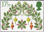 Christmas 17.5p Stamp (1980) Holly