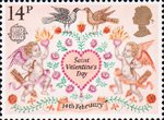 Folklore 14p Stamp (1981) St Valentines Day