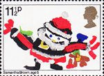 Christmas. Through The Eyes of a Child 11.5p Stamp (1981) Father Christmas