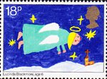 Christmas. Through The Eyes of a Child 18p Stamp (1981) Flying Angel