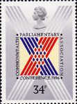 32nd Commonwealth Parliamentary Conference, London 34p Stamp (1986) Stylised Cross on Ballot Paper