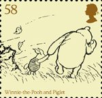 Childrens Books - Winnie The Pooh 58p Stamp (2010) Winnie-the-Pooh and Piglet