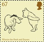 Childrens Books - Winnie The Pooh 67p Stamp (2010) Winnie-the-Pooh and Eeyore
