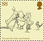 Childrens Books - Winnie The Pooh 88p Stamp (2010) Winnie-the-Pooh and Friends