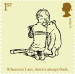 Childrens Books - Winnie The Pooh 1st Stamp (2010) Winnie-the-Pooh and Christopher Robin