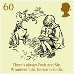 Childrens Books - Winnie The Pooh 60p Stamp (2010) Christopher Robin reads to Winnie-the-Pooh