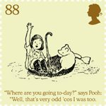 Childrens Books - Winnie The Pooh 88p Stamp (2010) Winnie-the-Pooh and Christopher Robin set sail