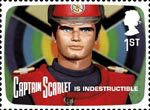 The Genius of Gerry Anderson 1st Stamp (2011) Captain Scarlet