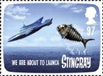 FAB: The Genius of Gerry Anderson 97p Stamp (2011) Stingray