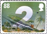 The Genius of Gerry Anderson 88p Stamp (2011) Thunderbird 2