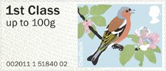 Pictorial Post & Go - Birds of Britain II 1st Stamp (2011) Chaffinch