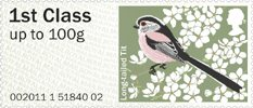 Pictorial Post & Go - Birds of Britain II 1st Stamp (2011) Long-tailed Tit