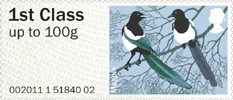 Pictorial Post & Go - Birds of Britain II 1st Stamp (2011) Magpie