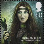Magical Realms 60p Stamp (2011) Morgan le Fay