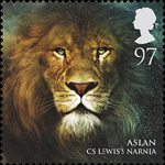 Magical Realms 97p Stamp (2011) Aslan