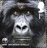 World Wildlife Fund 1st Stamp (2011) Mountain Gorilla