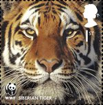World Wildlife Fund 1st Stamp (2011) Siberian Tiger
