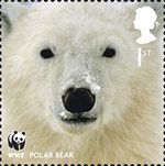World Wildlife Fund 1st Stamp (2011) Polar Bear