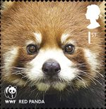 World Wildlife Fund 1st Stamp (2011) Red Panda
