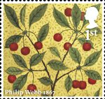Morris and Company 1st Stamp (2011) Cherries - Philip Webb