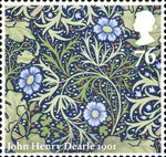 Morris and Company 76p Stamp (2011) Seaweed - John Henry Dearle
