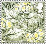 Morris and Company 76p Stamp (2011) Peony - Kate Faulkner