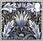 Morris and Company £1.10 Stamp (2011) Acanthus - William Morris and William De Morgan