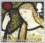 Morris and Company �1.10 Stamp (2011) The Merchant's Daughter - Edward Burne-Jones
