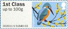 Pictorial Post & Go - Birds of Britain III 1st Stamp (2011) Kingfisher