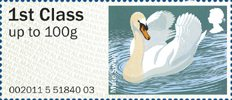 Pictorial Post & Go - Birds of Britain III 1st Stamp (2011) Mute Swan