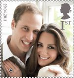 Royal Wedding of His Royal Highness Prince William and Miss Catherine Middleton 1st Stamp (2011) His Royal Highness Prince William and Miss Catherine Middleton