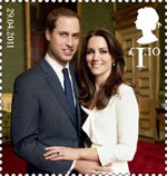 Royal Wedding of His Royal Highness Prince William and Miss Catherine Middleton £1.10 Stamp (2011) His Royal Highness Prince William and Miss Catherine Middleton