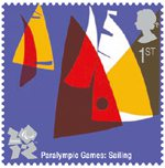 Olympic & Paralympic Games, Series 3 1st Stamp (2011) Paralympic Games - Sailing
