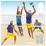 Olympic & Paralympic Games, Series 3 1st Stamp (2011) Volleyball