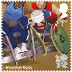 Olympic & Paralympic Games, Series 3 1st Stamp (2011) Wheelchair Rugby