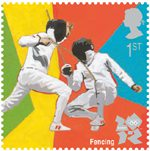 Olympic & Paralympic Games, Series 3 1st Stamp (2011) Fencing