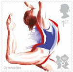 Olympic & Paralympic Games, Series 3 1st Stamp (2011) Gymnastics