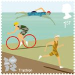 Olympic & Paralympic Games, Series 3 1st Stamp (2011) Triathalon