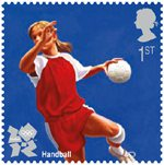 Olympic & Paralympic Games, Series 3 1st Stamp (2011) Handball