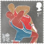 Olympic & Paralympic Games, Series 3 1st Stamp (2011) Wrestling