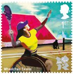 Olympic & Paralympic Games, Series 3 1st Stamp (2011) Wheelchair Tennis