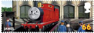 Thomas the Tank Engine 66p Stamp (2011) James