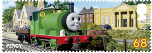 Thomas the Tank Engine 68p Stamp (2011) Percy