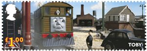 Thomas the Tank Engine �1.00 Stamp (2011) Toby