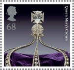 The Crown Jewels 68p Stamp (2011) Queen Mary�s Crown