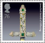The Crown Jewels 76p Stamp (2011) Jewelled Sword of Offering