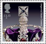 The Crown Jewels �1.10 Stamp (2011) Imperial State Crown