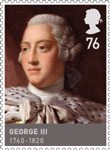 Kings & Queens, House of Hannover 76p Stamp (2011) George III  (1760 - 1820)