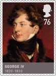 Kings & Queens, House of Hannover 76p Stamp (2011) George IV (1820 - 1830)