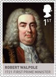 Kings & Queens, House of Hannover 1st Stamp (2011) Robert Walpole – 1721 First Prime Minister